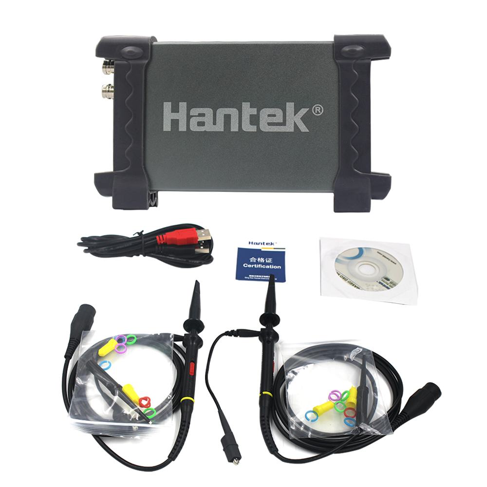 Hantek 6022BE 6022BL PC USB portable Digital oscilloscope Handheld 6022BE Digital Storage 2Channels 20MHz 48MSa/s Oscilloscope digital usb oscilloscopes 20mhz hantek 6022bl shipping russia portablepc 16channels logic analyzer car detector 2channels