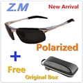 New Sunglasses Men Oculos de Sol Masculino Polaroid Sport Driving  GlassesZ.M 8177-N Fishing Metal Men Sunglass Brand