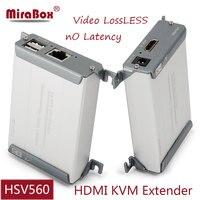 Mirabox HDMI USB Ethernet KVM Extender 1TX 1RX 80m HD 1080P over UTP STP Cat5/Cat5e/Cat6 Rj45 LossLess No Latency