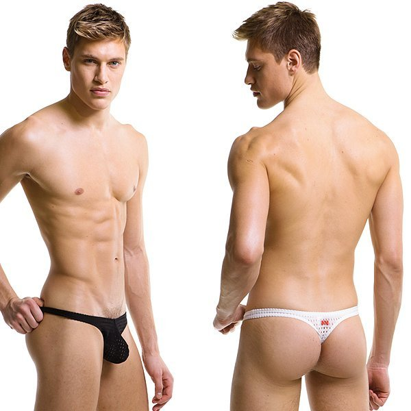 Men 39 s nets hole thong underwear in g strings thongs from for Camisetas de interior hombre