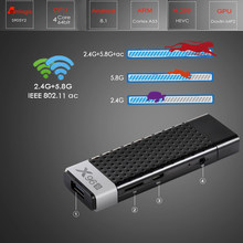 X96S Android TV Stick OS 8.1 Amlogic S905Y2 Quad Core 10Bit BT4.2 2.4G 5.8G Wifi TV Box 2G RAM 16G 8G ROM 4K H.265 Media Player(China)