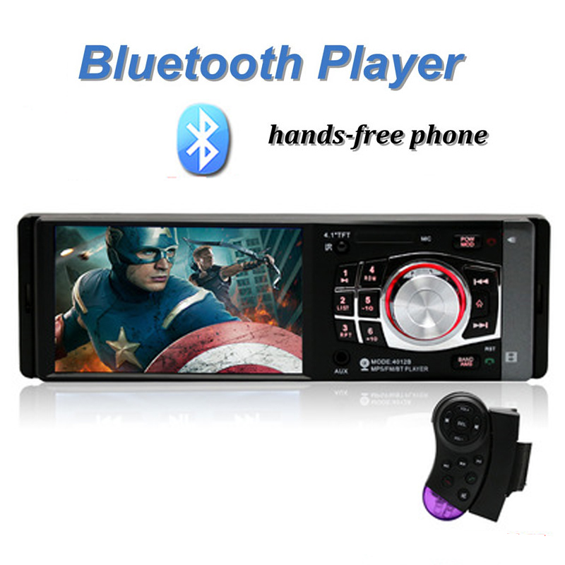 Car Radio MP5 Stereo Player 4.1 Inch Bluetooth Phone AUX-IN MP3 Power Output FM/USB/1 Din/Remote Control 12V Car Stereo FM Radi car usb mp3 player integrated bluetooth hands free mp3 decoder board module ztv m01bt remote control usb fm aux radio for car