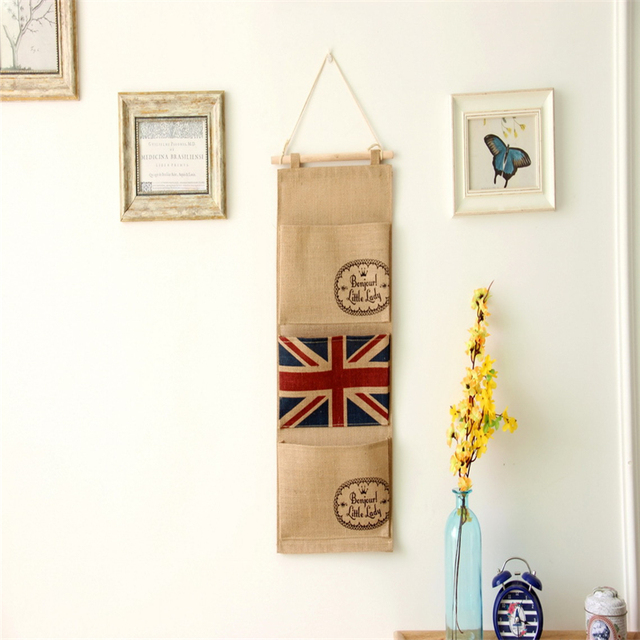 Wonderful Europe And America Fashion Home Furnishing Storage Bags ZAKKA Sundries  Magazine Organizer Hanging Bag On The