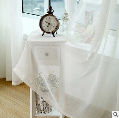 europe embroidered white linen curtains voile curtain readymade curtains for living roombedroom