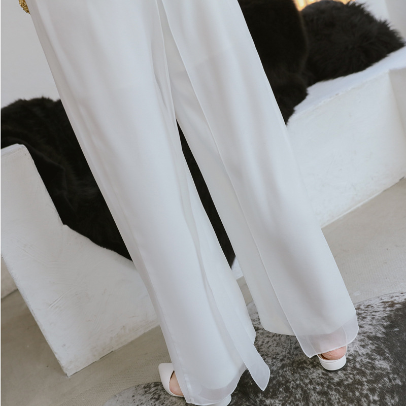 2018 Summer Strapless Jumpsuits Rompers Women White Sleeveless Straight Pants Office Lady for Women Sheath Party Club Jumpsuit 16