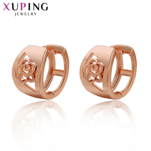 Xuping Fashion Earring Top Sale High Quality European Style Charm Design Rose Gold Color Plated Costume Jewelry Gift 29584