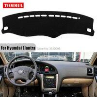 TOMMIA Interior Dashboard Cover Light Avoid Pad Photophobism Mat Sticker For Hyundai Elantra 2004 2011