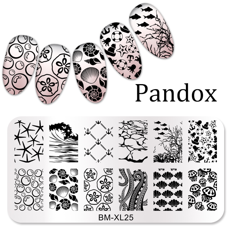 Image 4 - 2019 New Series Nail Stamping Plates DIY Image Konad Nail Art Manicure Templates Stencils Salon Beauty Polish Tools-in Nail Art Templates from Beauty & Health