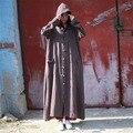 Johnature Mujeres Cazadora Con Capucha Suelta Senora Caliente 2016 Otoño 6 Color Vintage Tallas grandes Ropa de Mujer Trench