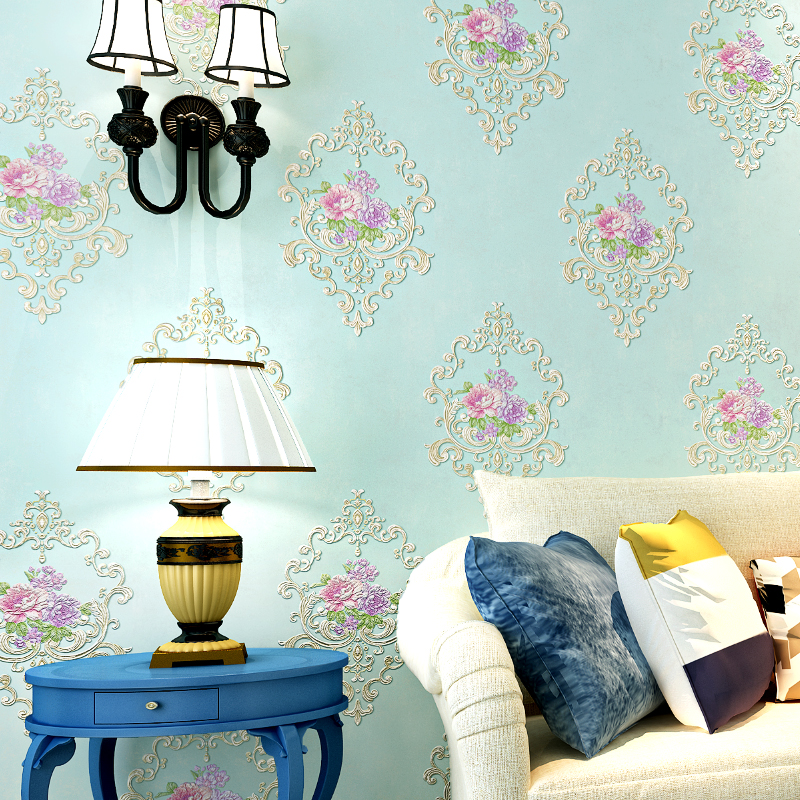 European Style Rustic 3D Wall Mural Classic Non-woven Flower Wall Paper Roll Living Room Wallcovering Wallpaper Floral papel pin beibehang for girls room for home decoration blue pink 3d wallpaper non woven mosaic wall paper roll flower pattern wallcovering