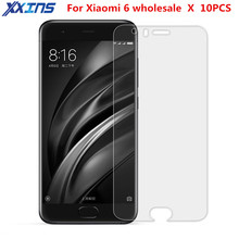 Xxins wholesale 10PCS of Tempered Glass For Xiaomi mi6 Ultra-thin Screen Protect smartphone film Mobile Phone Protector case