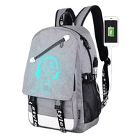 Outdoor Hiking School Cartoon Designl Backpack Bags Teenager Student Bright USB Animation Loading Departure Joint Backpack