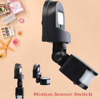 Newest 110 240V 180 Degree IP44 Outdoor Security PIR Infrared Motion Sensor Detector Movement Switch For