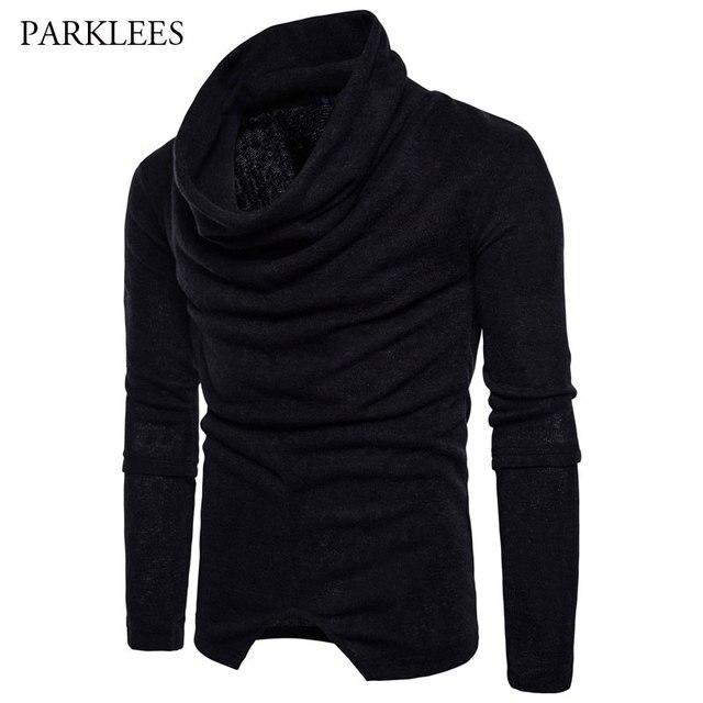Aliexpress.com : Buy Cool Black Pullover Sweater Men 2017 Fashion ...
