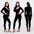 Bodycon jumpsuit venta limitada enteritos mujer elegante amazon explosión nuestra discoteca collar de terciopelo de alto grado