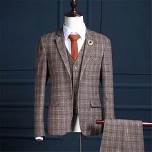 RUELK Brun Formelle Hommes Costume Slim Fit Costumes Pour Hommes Sur Mesure Marié  Smoking Blazer pour fe91f564fce