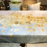 Beautiful Modern Thickened Dining Room Deskcloth Blue And Yellow Rectangular Tablecloth