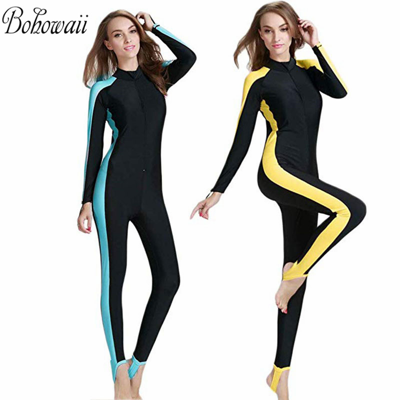 BOHOWAII Muslim Swimsuit Swim-Wear Islamic One-Piece Design Women Long-Sleeve for Sun-Protection title=