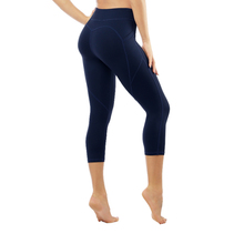 TOIVOTUKSIA Leggings Fitness High Waist Casual Capri Solid Quality Pockets Womens