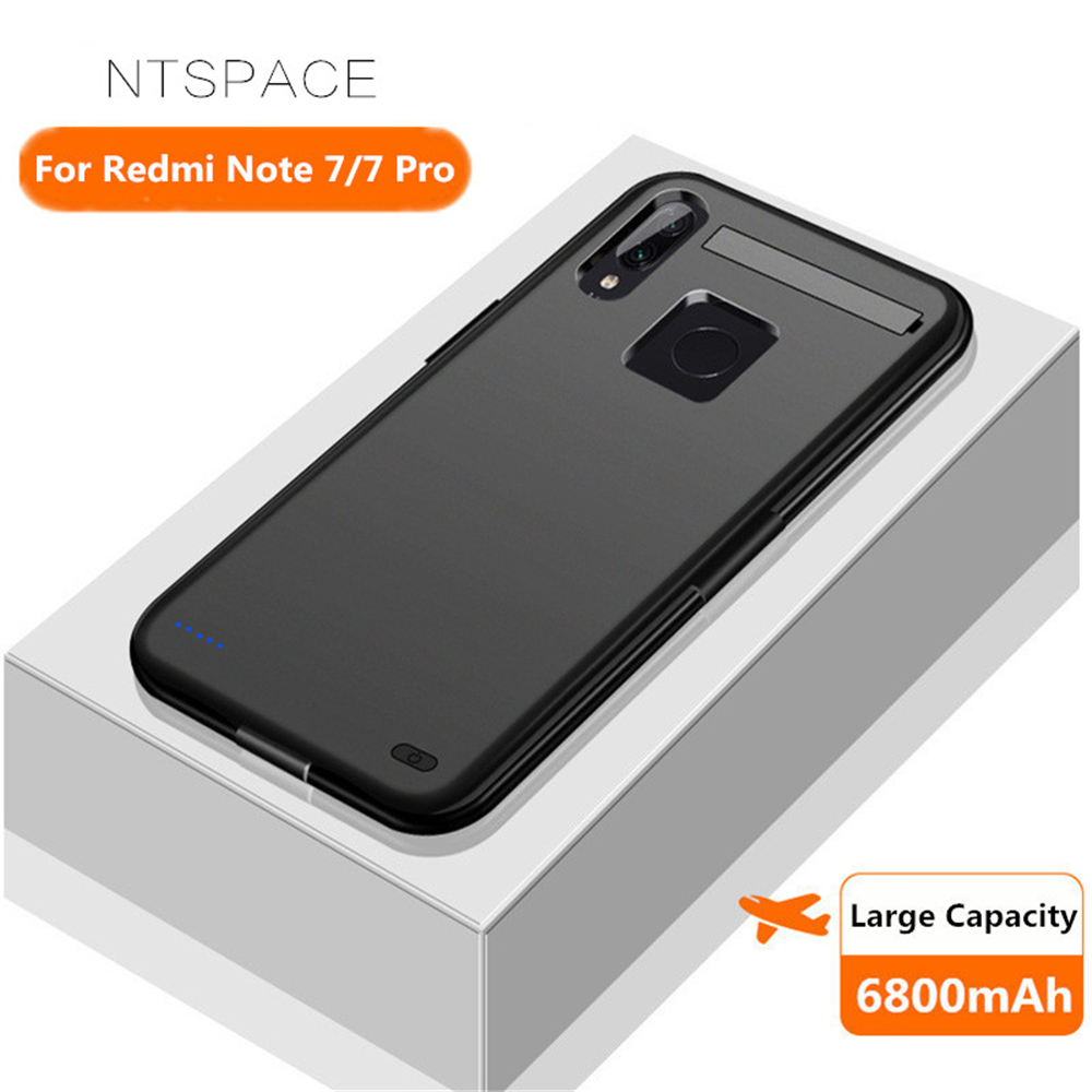 NTSPACE 6800mAh Power Bank Charging Case For Xiaomi Redmi Note 7 Pro Battery Charger Cover For Xiaomi Redmi Note 7 Power Case