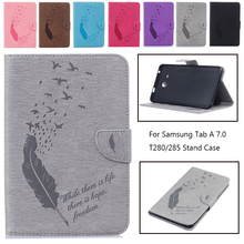 """New Arrivals Tablet Case For Samsung Galaxy Tab A a6 7.0"""" T280 T285 SM-T280 SM-T285 Cover Case Flip Stand Protective Shell"""