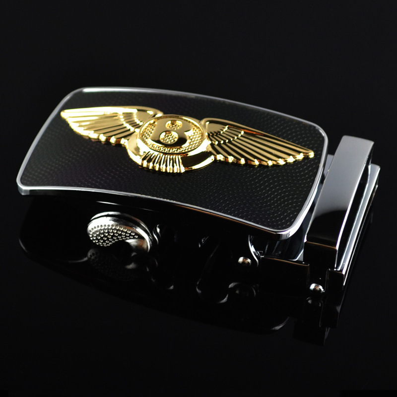 Genuine Men's Belt Head, Belt Buckle,Leisure Belt Head Business Accessories Automatic Buckle New Casual Letter Buckle LY125-0272