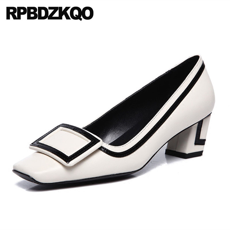 high heels metal size 4 34 black work shoes women leather thick pumps customized luxury medium genuine square toe 2018 beigehigh heels metal size 4 34 black work shoes women leather thick pumps customized luxury medium genuine square toe 2018 beige
