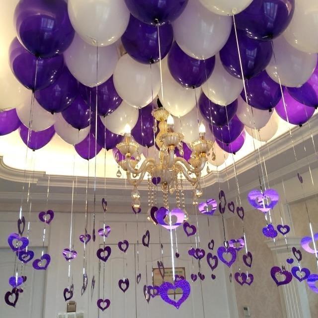 12 Inch 2 9g Thicken Dark Purple Balloon Marriage Room