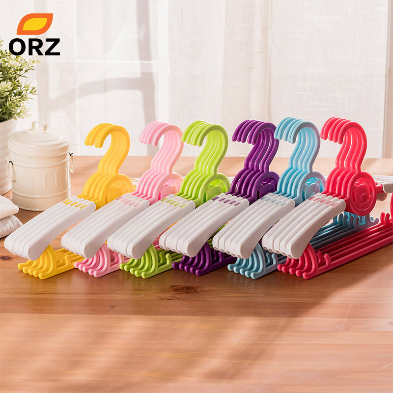 ORZ Children Clothes Hangers Outdoor Clothes Drying Rack Stretching PP Plastic Baby Kids Pant Skirt Coat Hanger Clothes Pegs