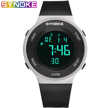 SYNOKE Digital Watch Men Boy Sport Wrist Fashion Simple Replaceable Comfortable Strap Alarm Multifunction