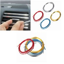 Universal 3 Meter U Style Car Decoration Strip Grille Chrome Automotive Air Conditioning Outlet Blade Car Styling
