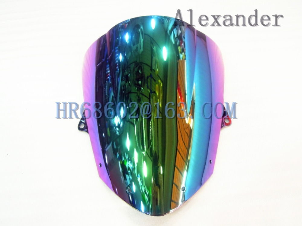 For Kawasaki ZX6R 2009 2010 2011 2012 2013 2014 2015 ZX 6R 636 ZX 10R 08 09 10 Iridium Windshield WindScreen Double Bubble