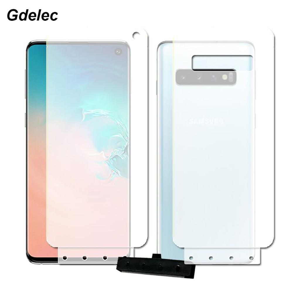 2PCS Front+Back Soft Hydrogel Film For Samsung Galaxy S10 5G S10 Plus S10E S9 S8 Plus Note 9 8 A8 A7 2018 TPU Screen Protector