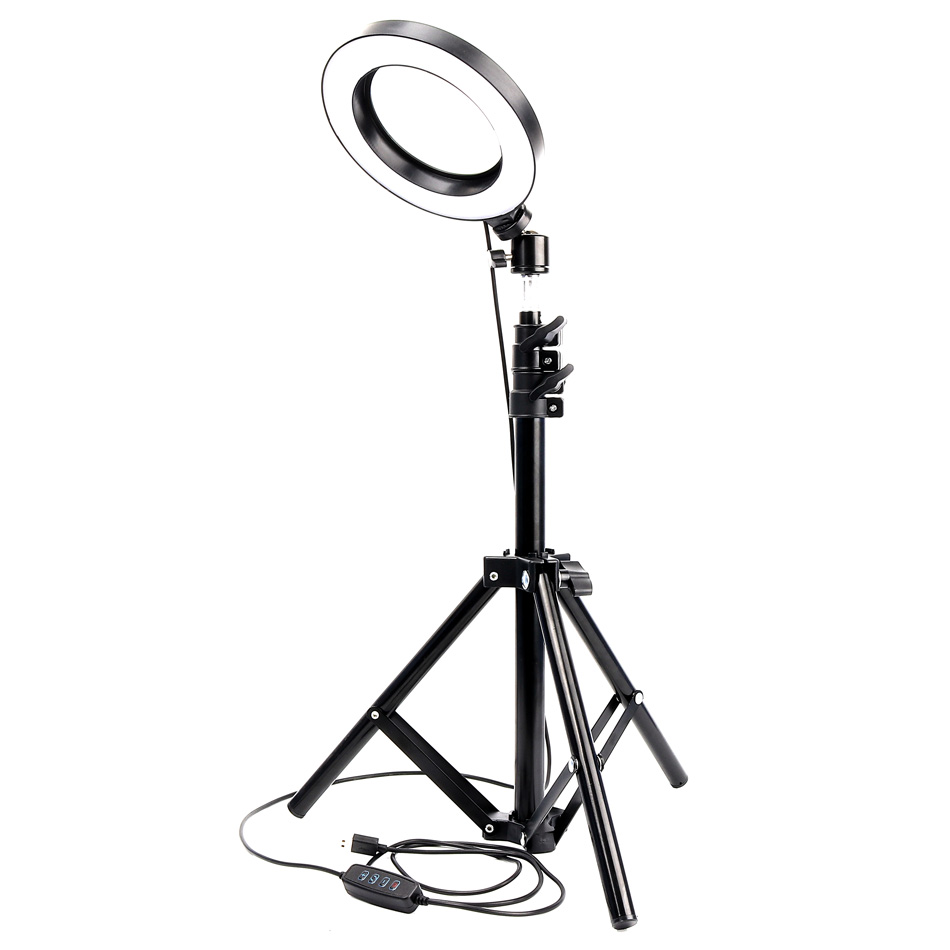 1.7 Meters Dimmable LED Studio Camera Ring Light Photo Phone Video Light Lamp With Tripods Beauty Room Selfie Ring Fill Light image