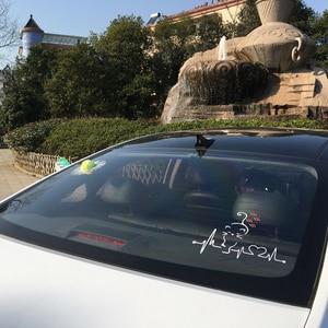 Image 5 - Bemost 車スタイリング素敵な猫ハートビート車の窓の装飾デカールファッション漫画のステッカー自動車の付属品 25*21 センチメートル