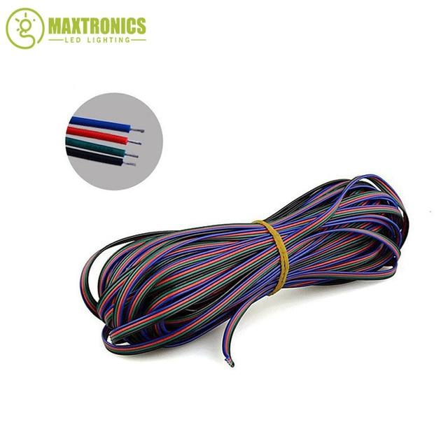 10 Mt 4pin RGB Verlängerungskabel Linie RGB Led streifen anschluss ...