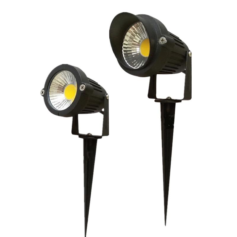 220V 110V Outdoor LED Garden Lawn Light 5W Landscape Lamp Spike Waterproof 12V Path Bulb Warm White Green Spot Lights