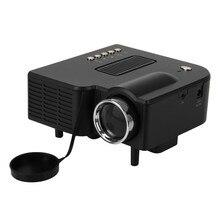 Free shipping UC28+ Portable LED Projector Cinema Theater PC&Laptop VGA/USB/SD/AV/HDMI Input White Mini Pocket Projector