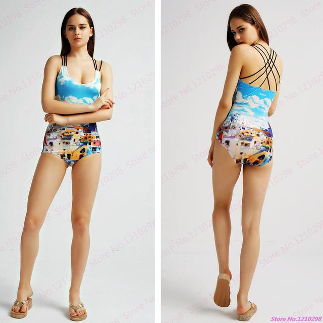 Grecism One Piece Monokini Swimsuit Y Women Halter Bandage Swimwear Ethnic Urban Beachwear