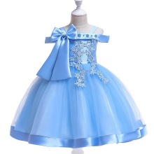 Summer Brand 2019 Kids Party Dresses For Girls Wear Princess Girl Dress Children Clothing Tutu Baby Girls Clothes Pink Blue Red недорого