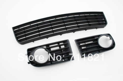 Front Bumper Lower Grille Set For VW Golf MK5 Non-GTI Version for 10 14 vw golf tdi jetta mk6 honeycomb mesh lower front grille grill abs usa domestic free shipping hot selling