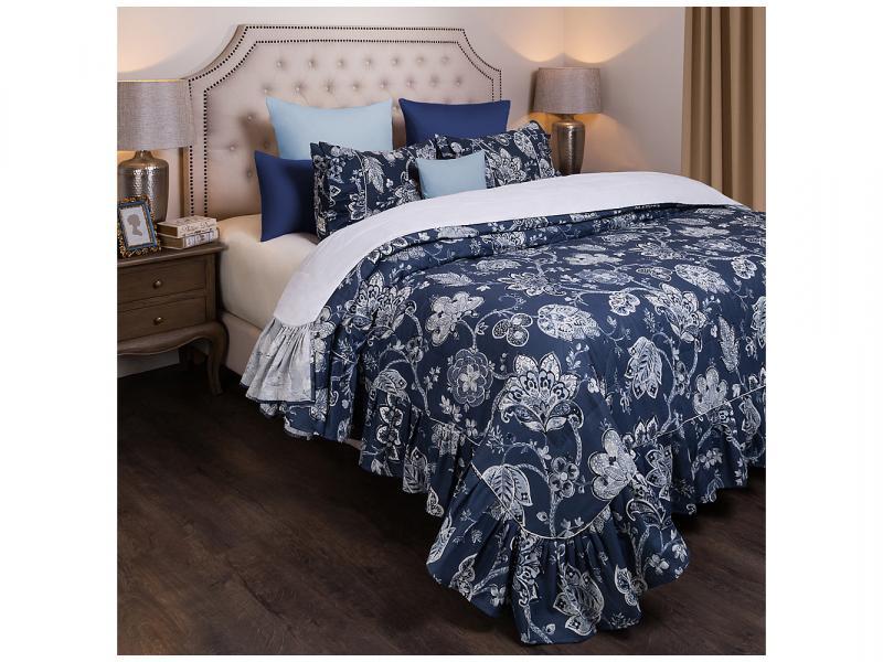 Bedspread double SANTALINO, Sapphire, 230*250 cm, with наволочками цена