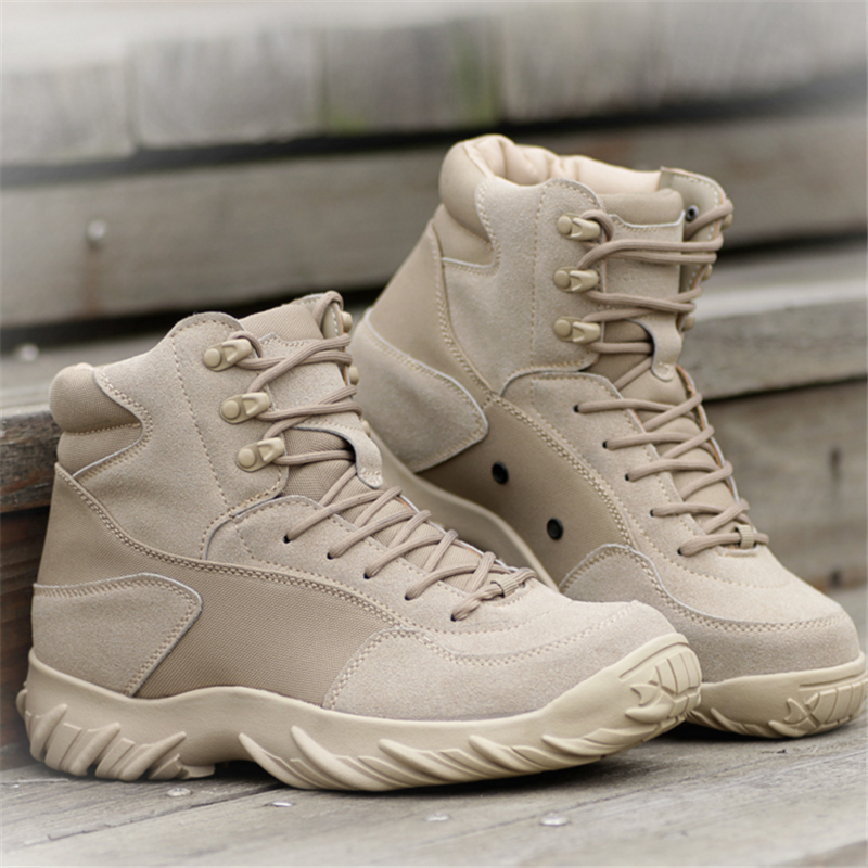 2018 Brand military tactical Delta Army Combat Boots outdoor travel Non-slip wear hiking shoes men's fall boots leather boots