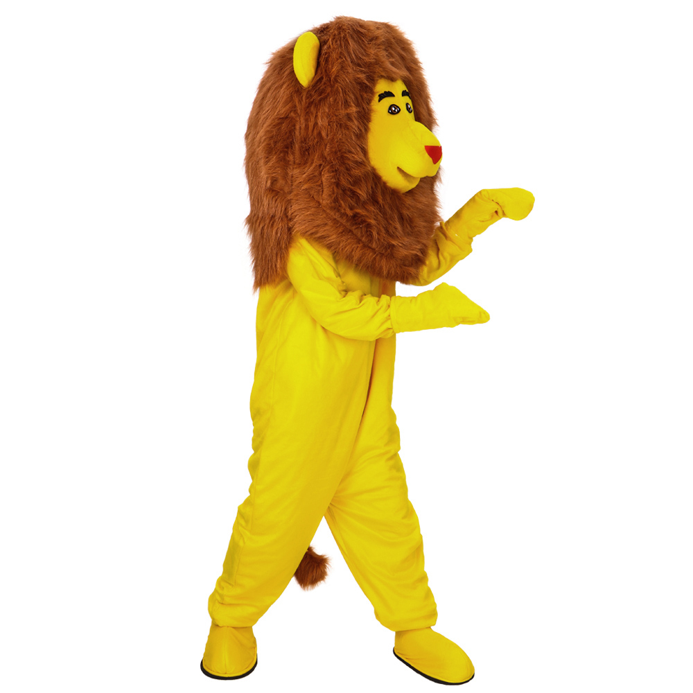 Nouveau Costume de mascotte lion jaune déguisement personnalisé Costume de mascotte de dessin animé Cosplay Costume de carnaval