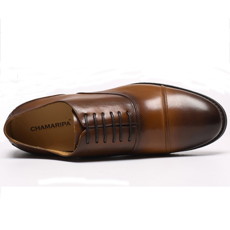 716ece2a7b1 CHAMARIPA Men Elevator Shoes 7.5cm 2.95 inch Increase Heigh Brown Hidden  Heel Dress Shoe Tall Man Stylish Shoe Taller 252H11 1-in Formal Shoes from  Shoes on ...