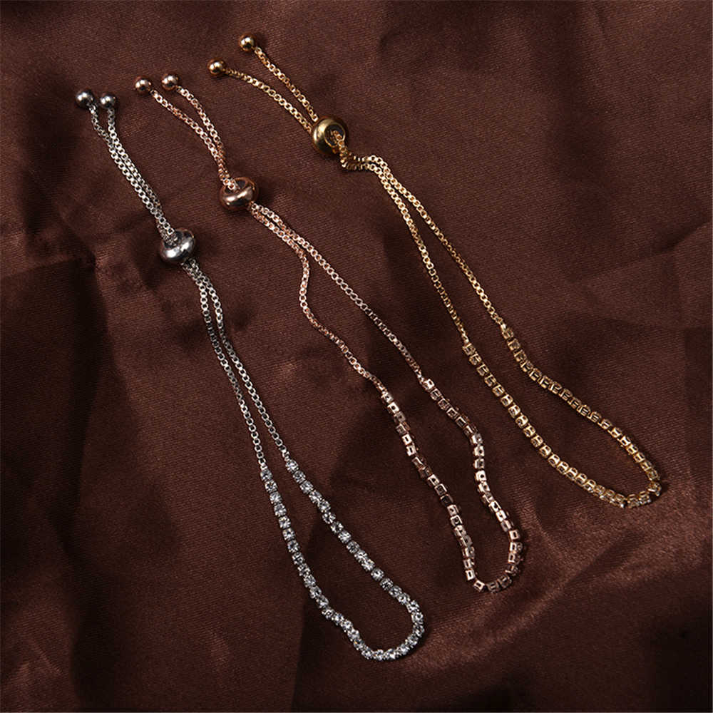 Chất Lượng cao Điều Chỉnh Charm Bracelets & Bangles Với Cubic Zirconia Bạc Màu Vàng Cho Phụ Nữ Jewelry Gift Pulseras Mujer