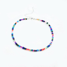 Colored Rice Beads Necklace Jewelry  Women Fashion Beads Choker Necklace Party Jewelry Gifts Neck Decoration 1pcs fashion rainbow color cute beads geometric necklace pendent for women gift party decoration