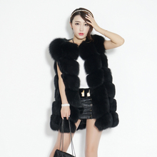 Best Quality Winter New Fashion Genuine Fox Furs Vests Woman Real Fur Coat For Women's Natural Fox Fur Jacket Waistcoat