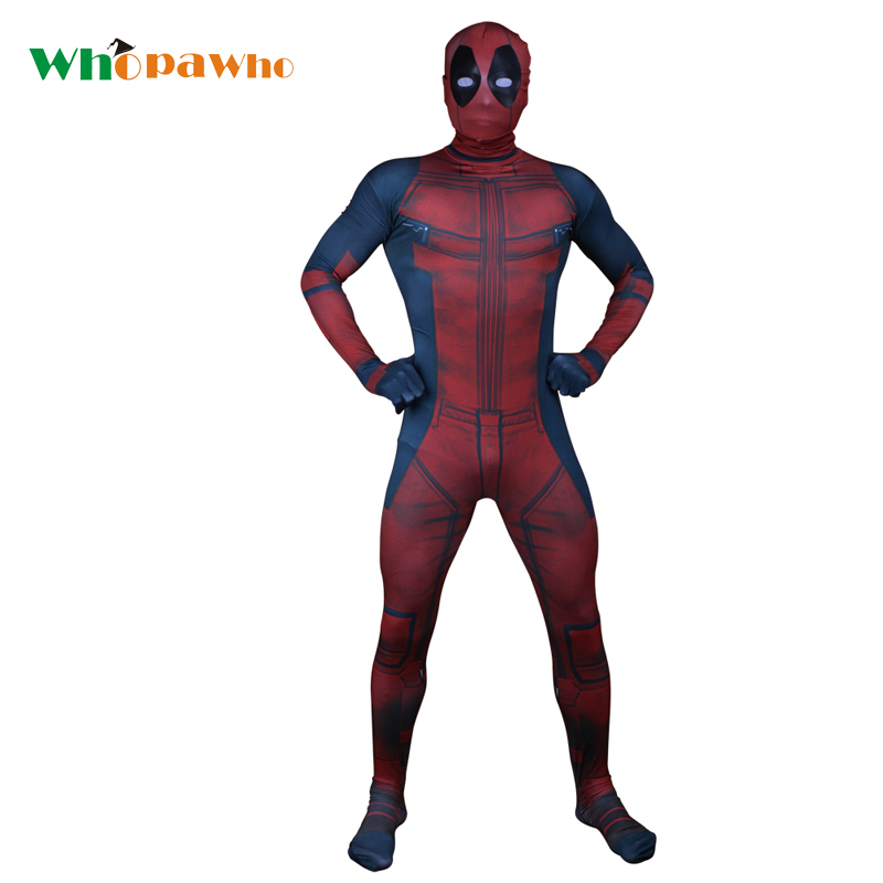 Halloween Deadpool Cosplay Adult Kids Spandex Catsuit Full Body Tights Lycra Bodysuit Fancy Party Dress Disfraz Sexy Hombre