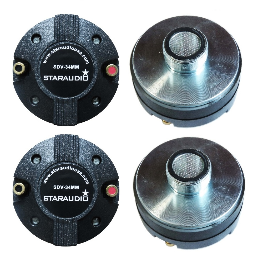 STARAUDIO SDV-34MM 4 Pcs 2000 W 1.35 Screw-On Horn Driver de Compressão de Titânio Tweeters para Alto-falantes